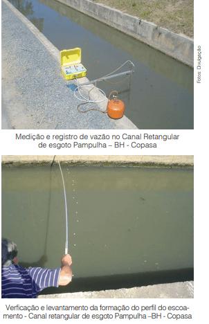 Medição de esgoto e efluente pelas ETES